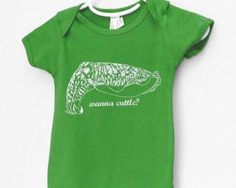 Funny T-Shirt, Cuttlefish Shirt, funny baby clothes, wanna cuttle, cuttlefish, cephalopod, octopus