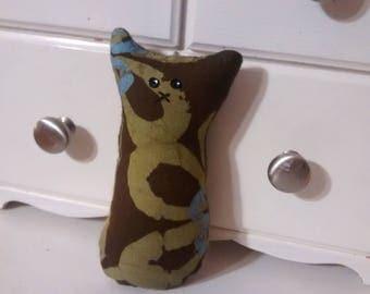 Pocket critter, FREE U.S. shipping, browns, greens, tooth fairy pillow, animal pillow, kids pillow, etsy kids pillow
