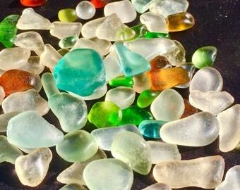 A-Sea Glass, Beach Glass of HAWAII beach 75 with AQUA! SALE! Only 25 dollars! 4 drilling! Bulk Sea Glass! Genuine Sea Glass! Seaglass