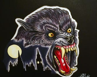 David! - Original An American Werewolf In London Painting