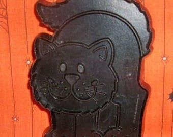 Hallmark Black Cat Cookie Cutter - Soft Plastic 1979 Cookie Mold - Detailed Halloween Cat Shape - Recipe - Mint