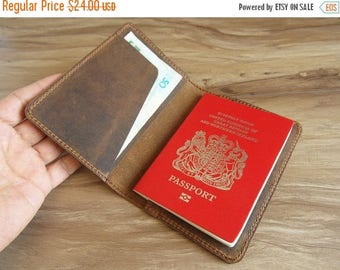 Valentines Sale 20% off- personalized leather passport case, passport cover, leather passport holder, leather traval case for men