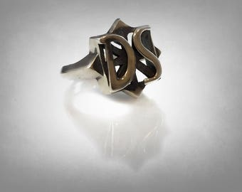D.S. Drive Shaft RING Charlie Lost Props solid silver sterling 925
