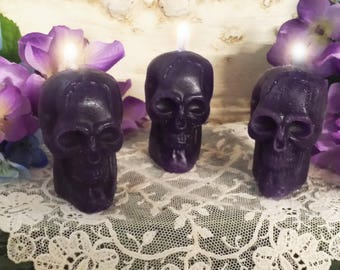Purple Skull Candles Spell Candles