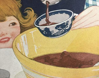 Circa 1921 Brer Rabbit Syrup ad 10 x 13 original ad. Vivid colors