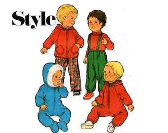 Style 2476 Toddlers Snowsuit Parka & Ski Pants 70s Vintage Sewing Pattern Size 18 Months UNCUT Factory Folded