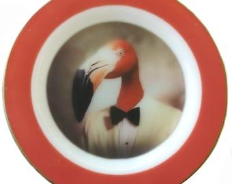 "Fernando the Fantastic Flamingo Portrait Plate 10"""