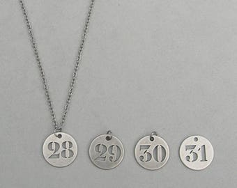 28, 29, 30, or 31 Necklace