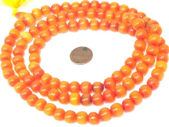 108 beads -  9 - 10 mm size  Light weight Tibetan resin mala beads with Guru bead supplies from Nepal - ML101A