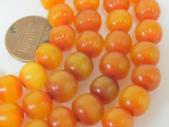 20 beads -  9 - 10 mm size  Light weight Tibetan resin mala beads with Guru bead supplies from Nepal - ML101B