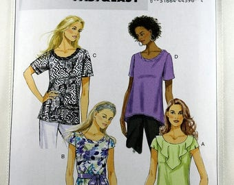 ON SALE Butterick 5754, Misses' Top Sewing Pattern, Easy Top Pattern, Misses' Patterns, Sewing Pattern, Misses' Size 4 to 14, New/Uncut
