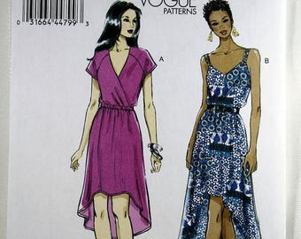 ON SALE Vogue 8870, Misses' Dress Sewing Pattern, Easy Dress Pattern, Pullover Dress Pattern, Hi-Lo Hemline Dress Pattern, Misses' 16 to 26,