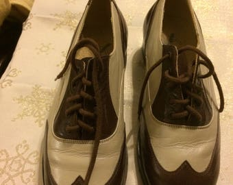 Stunning Tap Dance Saddle Shoes by  Leo's Tone Master Size 6 1/2 Wide