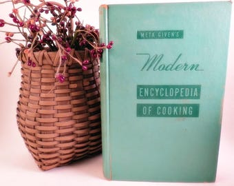 Old Cookbook Cook Book Meta Given's Modern Encyclopedia of Cooking Volume 1958