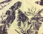 Hawaiian Print Fabric Poly-Cotton (Yardage Available)