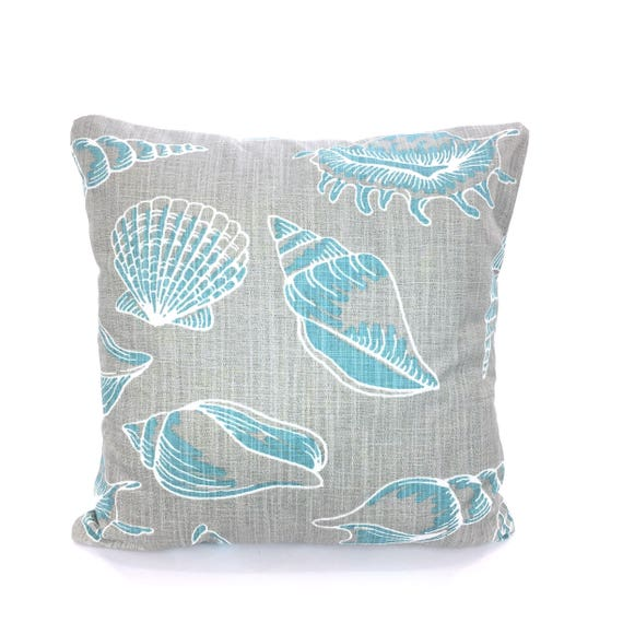Nautical Pillow Covers Aqua Gray Decorative Pillows Cushion
