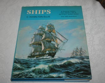 """Vintage Hard Cover Book with Dust Jacket """" Ships """", by C. Hamilton Ellis 1974"""