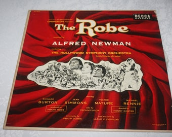 "Vinyl LP Record Album "" The Robe "" Original Movie Soundtrack Starring Richard Burton, Jean Simmons, 1953"