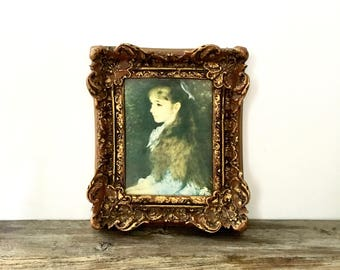 Small Ornate Gold Framed Portrait Print