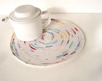 Hot Pad Coiled Mat - Tableware - Large Coaster - Pot Holder - Table Mat