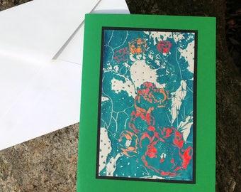 5 Desert Bloom Notecards (Green, Sage Green, or Turquoise)