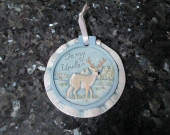 To My Uncle Ornament