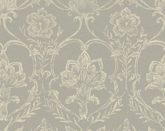 KC1820 Sheer Fabric Damask Wallpaper