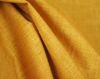 Gold Textured Curtain Fabric