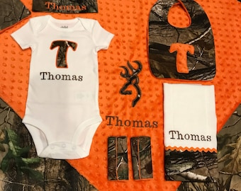 Hunter baby etsy duck deer hunter baby personalized baby gift camo baby boy clothes baby boy negle Image collections