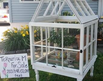 Terrarium / Aquarium / Habitat / Wooden Windows / Up-cycled / Made in the USA - Rare