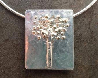 ON SALE 20% OFF Large Tree of Life Gold and Sterling Metalwork Necklace Pendant