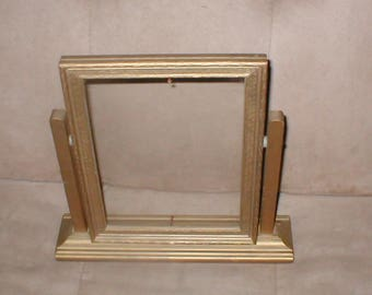 Antique Vintage Swivel Wooden Picture Frame