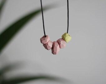 Marshmallows - porcelain beaded necklace