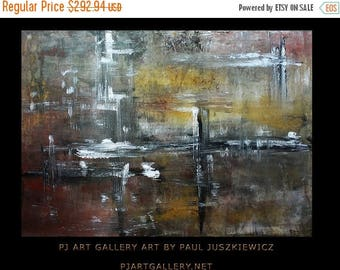 "17% OFF /ONE WEEK Only/ Nod abstract by Paul Juszkiewicz 34""x48"" minimalism multi red"