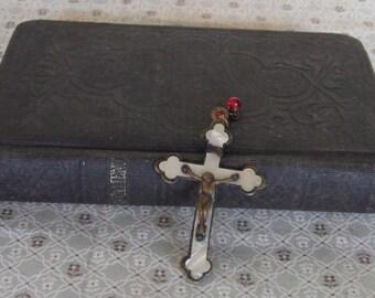 Antique Pocket New Testament Book & Crucifix