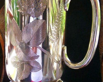 Antique English Victorian sterling silver trophy loving cup 1889 | rare | sterling hollow ware | wedding gift