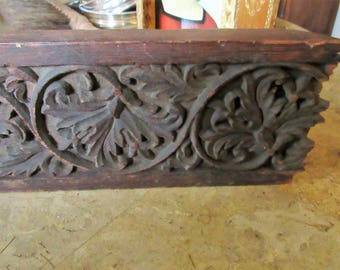 Vintage Wood Architectural Salvage Piece, Hand Carved Wood Panel, Decorative Architectural Salvage, Home and Living, Home Decor