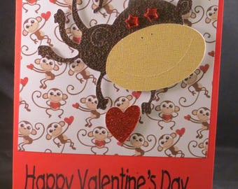 Valentine's Day Card - Monkey
