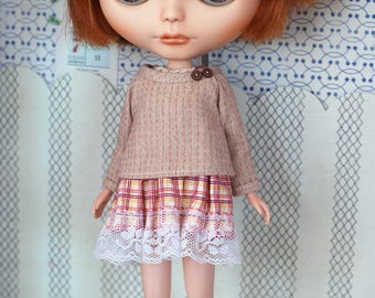 Dress and top set for blythe