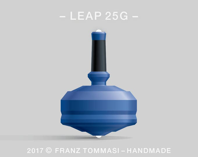 LEAP 25G Blue Spin Top with rubber grip and dual ceramic tip
