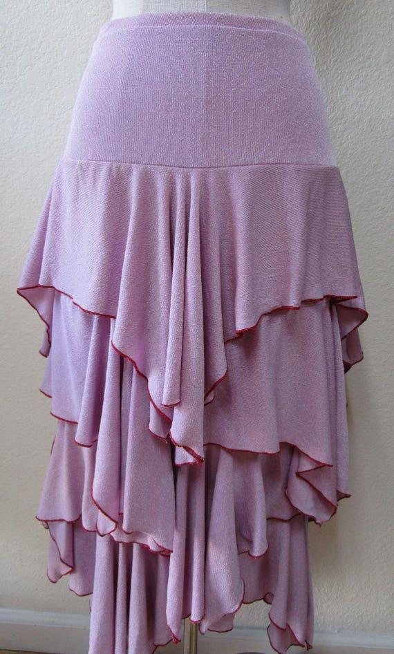 Lavender color 4 layers skirt or tube dress for option plus made in USA (v56)