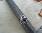 ON SALE Beautiful black onyx ring handmade in sterling silver 925