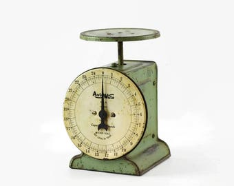 Vintage Kitchen Scale, Country Kitchen Decor, Old Fashioned Kitchen Scale, Antique Kitchen Scale, Retro Kitchen Scale, Auto Wate Scale