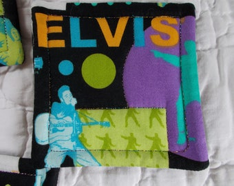 Elvis Presley Quilted Coasters (Set of 4)