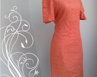 ON SALE Vintage Brick Red Dress