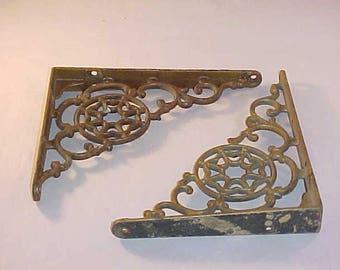 Intricate Cast Metal Shelf Brackets