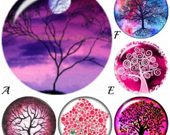 Tree of Life snap charms fit Ginger Snaps Jewelry. 20mm snap charms for 18-20 mm snaps jewelry. Feature a high domed cabochon by Snapdora