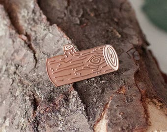 Log Enamel Pin