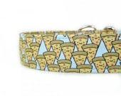 Happy Pizzas Dog Collar - Custom Dog Collar - Martingale - Pet Accessories - Designer Dog Collar