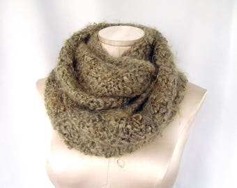 Fuzzy Knitted Ladies Cowl